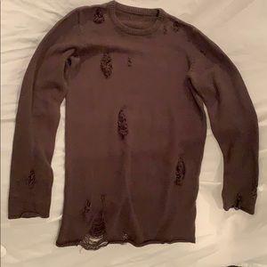 Sweaters - Ripped Freddy Krueger sweater green/ brown